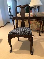 Vintage Ethan Allen Knob Creek Solid Cherry Dining Table Side Chairs