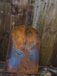 Old Sand Coal Scoop Shovel Rusty 21 1/2 Tall X 11 Wide
