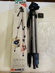 Ambico 54 Tripod Deluxe For Video Camera Camcorder V-0555 In Box Quick Release