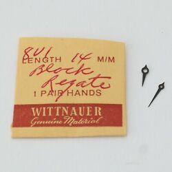 Nos Wittnauer 8v1 14mm Black Regate Hand Set Watchmakers Parts Repairs Spares