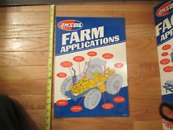 Amsoil Counter Top Store Display Farm Applications Sign Gas And Oil