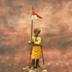 British Colonial Lancer Of The 1st Bengal Reg Painted Miniature Pre-sale | Art