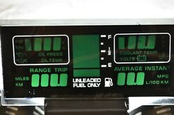 Mid 1980s Corvette Lcd Dashboard Instrument Panel Oil/coolant/gas/voltand039s/miles