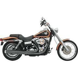 Bassani Black Long Road Rage 21 Exhaust System For 06-17 Dyna Fxd