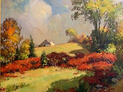 Foster Caddell Fall Landscape With A Barn
