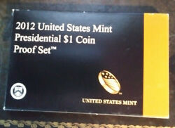 2012 S United States Mint Presidential 1 Coin Proof Set Coa Ps-114