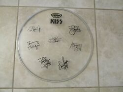 Kiss Signed 16 Inch Drumhead Reproduction - Rare