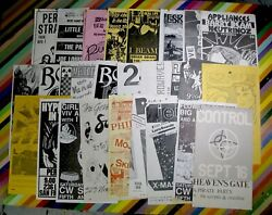 Vtg 1980s Punk New Wave Music Event Flyer - Lg Size Los Microwaves