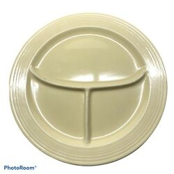 """Vintage Fiestaware 10.5"""" Compartment Divided Grill Plate Fiesta Old Ivory Glaze"""