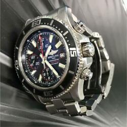 Auth Breitling Watch Super Ocean 44 Chronograph A13341 F/s