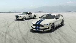 1965 - 2020 Ford Mustang Shelby Gt350 Poster 24 X 36 Inch Sweet