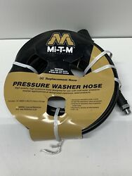 Mi-t-m Pressure Washer Replacement Hose 30and039 X 1/4 Aw-0015-0239 Aw00150239
