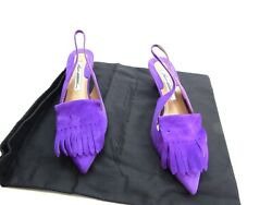 Brian At Wood Georgina Violet Fancy Shoes Size 37 Euro Suede Italian