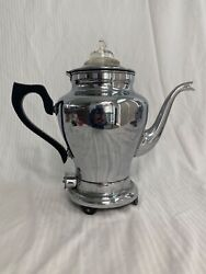 Mid Century Empire Coffee Maker 12 Cu Metal Ware Two Rivers Wisconsin. Cat 713