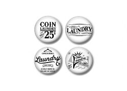 Set Of 4 Coin Laundry Laundromat Room Drawer Knobs Pulls