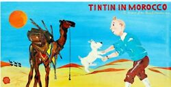 Tintin And Milou Painting . Tintin In Morocco . Unique . Collectible . Original