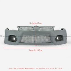 For Honda Civic Fd2 Epa Style Frp Widebody Front Bumper Vent Fog Air Duct Kits