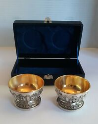 Two Vintage Corbell And Co Silver Plated Footed Bowls In Presentation Box