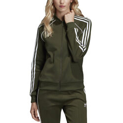 Adidas Originals Womenand039s Sst Track Top Jacket Night Cargo Green Dh3166 New