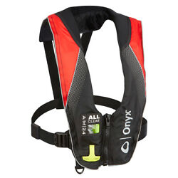 Onyx A/m-24 Series All Clear Automatic/manual Inflatable Life Jacket - Black/red