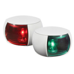 Hella Marine Naviled Port And Starboard Pair - 2nm - Colored Lens/white Housing
