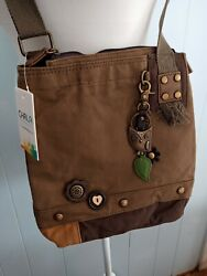 Chala Crossbody Canvas Purse Bag With Owl New With Tags $35.00