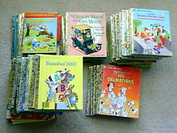 `vintage Little Golden Books And Some Misc Lot Of 74 1940s - 1990s Disney See List