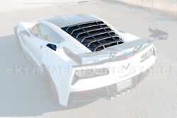 Rear And Side Quarter Window Louver Sun Shade Cover For 14-19 Corvette C7 Coupe