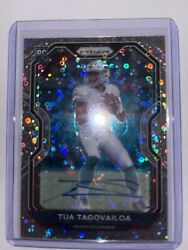 2020 Tua Tagovailoa Prizm No Huddle Auto Silver Disco Cardno. 339 True Rc Rookie