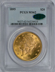 1895 20 Liberty Gold Double Eagle Ms62 Pcgs Cac Graded