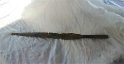 Ancient Large Anglo-saxon Iron Spear Point 6th-7th Century Ad Boston Collection