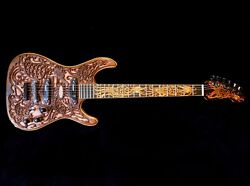 Blueberry Special Order Handmade Electric Guitar Delivery Celtic Birds
