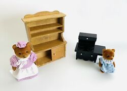 Vintage Teddy Bear Story - Kitchen Metal Stove Lot - Applause Toy Co. Dollhouse
