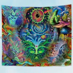 hippie trippy psychedelic art wall tapestry dorm room wall art