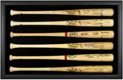 Baseball Bat Display Case With Black Frame For 6 Bats - Fanatics Authentic Certi