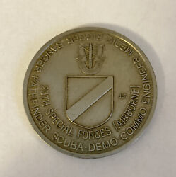 20th Special Forces Group Airborne Green Berets Ser5874 Challenge Coin R2