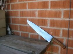 1967 Vintage 12 Blade X 1 Lb. Wt. Clyde Us Military Carbon Heavy Chef Knife Usa