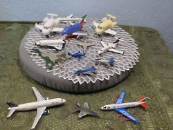 Lot Of 14 Vintage Die-cast Metal Toy Airplanes Jet Aircraft/misc.