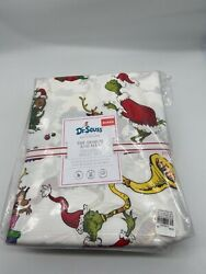 Pottery Barn Kids Dr. Seuss And Max Organic Cotton Queen Sheet Set