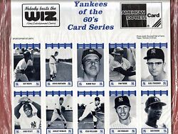 1990's Wiz Fisher Yankees Of The 60's Complete 140 Sealed Card Set Unopened