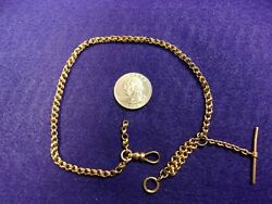 2 Of 2, Very Old Vtg Antique 14k Rose Gold Victorian Era Pocket Watch Fob Chain