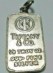 1/2 Half Troy Oz 999 Fine  And Co Sterling Silver Tag Charm
