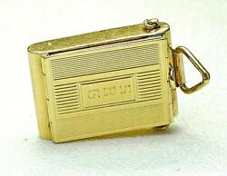 Vintage Rare Huge 14k Yellow Gold Opening Old Style Box Camera Charm 1950and039s