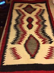 Rare, Antigue Navajo Rug/blanket, It 57 Inches Long And 29/12 Inches Wide, Heavy