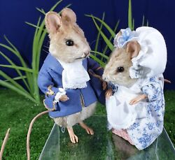 Beatrix Potter By R John Wright Gentleman And Lady Mouse Matched Pair Ltd/ed