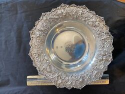 Kirk Repousse Sterling Silver 11 Bowl Monogrammed Great Shape Height 2 3/4