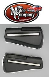 1968 1969 442 Rear Armrest Bases Complete Also Includes Chrome Backing Plates