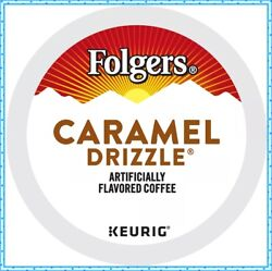 96 K-cups Or More Folgers Caramel Drizzle Coffee Keurig K-cup Pods