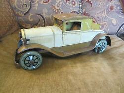 Vintage Circa 1930 15'' L Karl Bub Kb Toys Germany Tin Wind Up Coupe Toy Car
