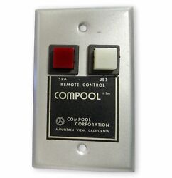Compool Two Button Spa Jet Wall Mount Remote Control